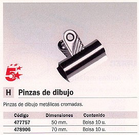 5 ESTRELLAS PINZAS BOLSA 10 UD 50 MM NEGRO 477757