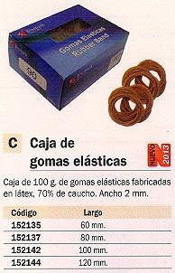 MARCA BLANCA GOMAS ELASTICAS CAJA 100GR 12 CM ANCHO 2 MM ANCHO 2 MM 320522