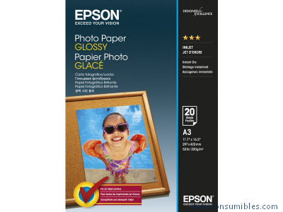 EPSON C13S042536|PHOTO PAPER GLOSSY A3 20 HOJAS 200 GRAMOS