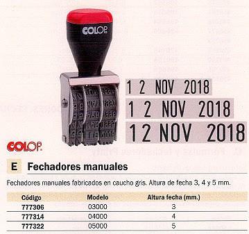 COLOP SELLO 3000 3 MM FEC.3.1