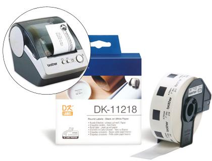 Etiquetas BROTHER ETIQUETA PRECORTADA DK11218 1000UD 24MM BLANCO DK11218