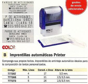 COLOP IMPRENTILLA AUTOMATICA PRINT.30 TEXTOS PERSONALIZADOS SET.PRN30.1