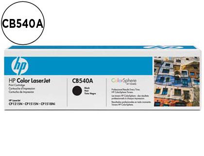 CARTUCHO DE TÓNER NEGRO CON COLOR SPHERE 540A HP 125A