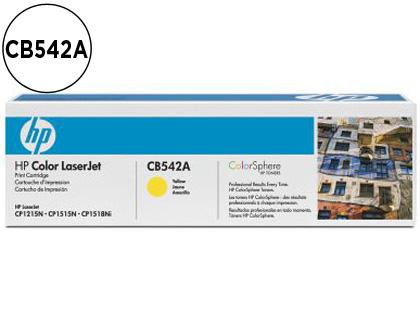 CARTUCHO DE TÓNER COMPATIBLE CON HP AMARILLO CON COLOR SPHERE 542A 125A Nº 125A EQUIVALENTE A LA REFERENCIA ORIGINAL CB542A