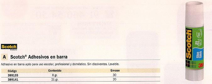 SCOTCH PEGAMENTO BARRA 21GR APTO USO ESCOLAR LAVABLE 100430171