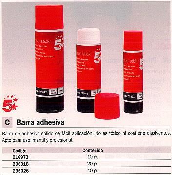 5 ESTRELLAS PEGAMENTO BARRA 0056340/1