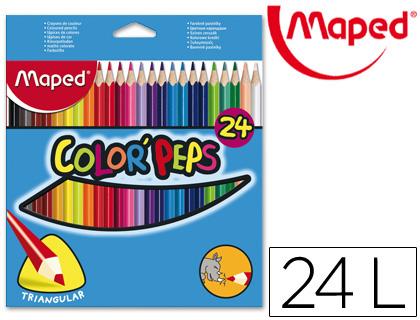 MAPED LAPICES COLORES COLOR´PEPS ESTUCHE 24 UD COLORES SURTIDOS 183224