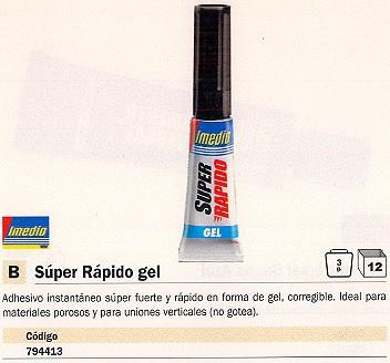 Adhesivos instantaneos ENVASE DE 12 UNIDADES IMEDIO ADHESIVO SUPER RÁPIDO GEL INSTANTÁNEO 3 GR 6304693
