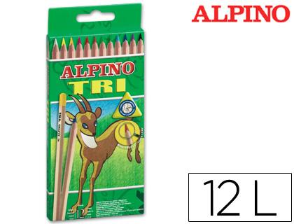 Lápices de colores ALPINO LAPICES DE COLORES ALPINO TRI ESTUCHE DE 12 COLORES SURTIDOS AL000128
