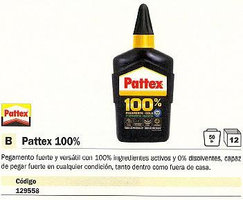 ENVASE DE 12 UNIDADES PATTEX PEGAMENTO UNIVERSAL 50 GR EXTRA FUERTE 1541275