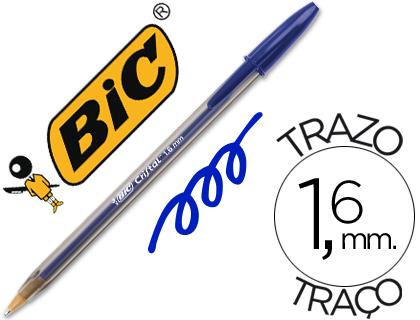 Bolígrafos cristal ENVASE DE 50 UNIDADES BOLÍGRAFO BIC CRISTAL X LARGE TINTA AZUL 1,6 MM 880656
