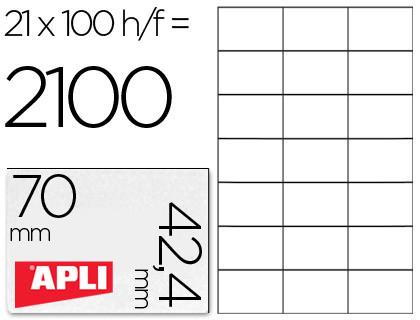 Inkjet Laser Copiadora Etiqueta adhesiva 1276 tamaño 70x42,4 mmmm para fotocopiadora laser ink-jet caja con 100 hojas din a4