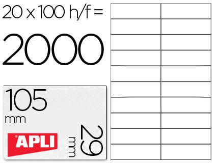 Inkjet Laser Copiadora Etiqueta adhesiva 1299 tamaño 105x29 mm para fotocopiadora laser ink-jet caja con 100 hojas din a4