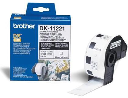 Etiquetas BROTHER ETIQUETA PRECORTADA DK11221 1000UD 23X23MM BLANCO DK11221