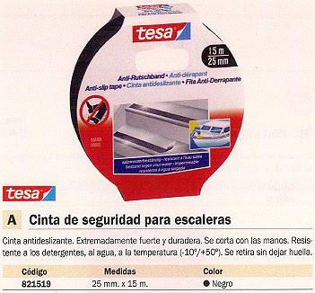 TESA CINTAS SEGURIDAD 25 MMX15M NEGRO ANTIDESLIZANTE 55589-00000-00