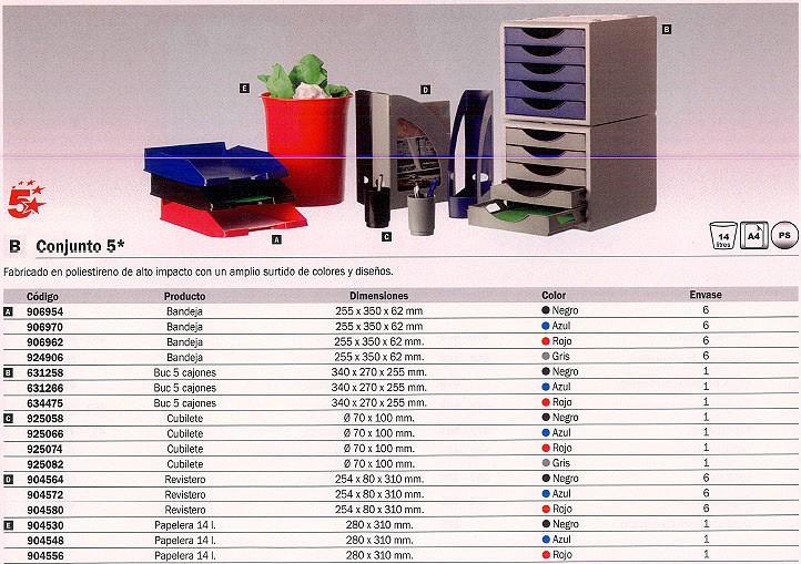 ENVASE DE 6 UNIDADES REVISTERO 254X80X310 MM NEGRO 2003NE 5 ESTRELLAS