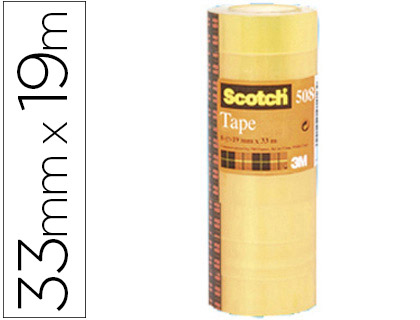 SCOTCH CINTA ADHESIVA TRANPARENTE 19X33 MM ACORDEON 8 UD YP208060670