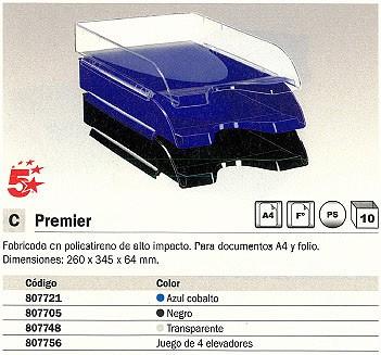 5 ESTRELLAS BANDEJAS SOBREMESA PREMIER 260X345X64 AZUL COBALTO 1001080141
