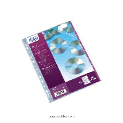 ELBA FUNDAS CD/DVD 10 UD 3 CD´S CON TALADROS POLIPROPILENO PIEL DE NARANJA 100206995