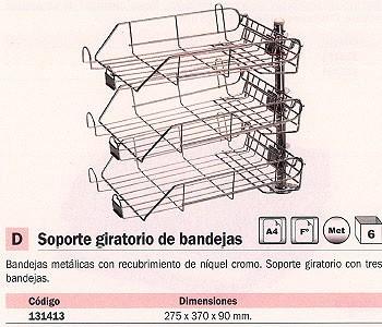 MACAMSA BANDEJAS SOBREMESA 275X370X90 METALICA CROMADA CON CANON GIRATORIO U203