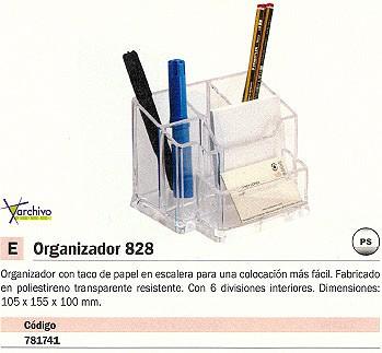 ARCHIVO 2000 ORGANIZADOR 828 CRISTAL TRANSPARENTE 105X155X100 MM 828CSTP