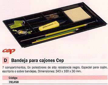CEP BANDEJAS PARA CAJONES 343X160X30 NEGRA POLIESTIRENO 7 COMPARTIMENTOS 1014940161