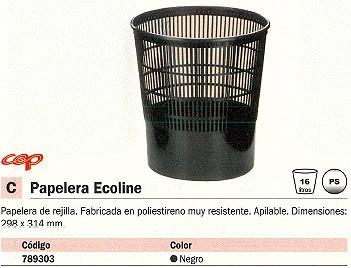 CEP PAPELERA BASICS POLIESTIRENO 16L. NEGRO 1002370011
