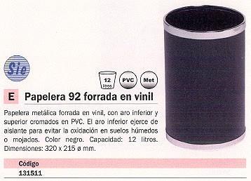 SIE PAPELERA 12L NEGRO 92