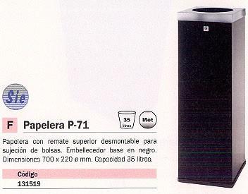 CILINDRO PAPELERA METÁLICA 35 LITROS CON REMATE SUPERIOR P 71