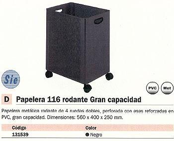SIE PAPELERA 116-N METÁLICA 70L NEGRA 116
