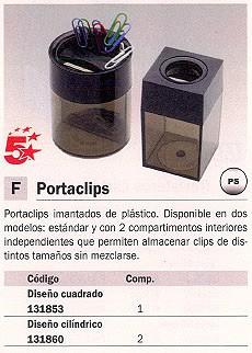 5 STAR PORTACLIPS DE PLÁSTICO IMANTADOCUADRADO 80015