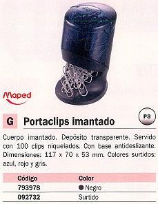 MAPED PORTACLIPS 117X70X53 IMANTADO SURTIDO COLORES 537500