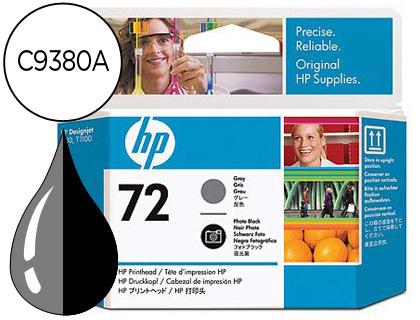 CABEZAL DE IMPRESION GRIS Y NEGRO FOTOGRAFICO HP Nº 72