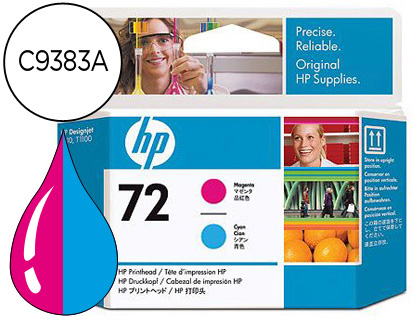 CABEZAL DE IMPRESION MAGENTA Y CIAN HP Nº 72