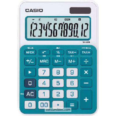 Calculadoras de sobremesa CASIO CALCULADORA SOBREMESA MS-20NC 12 DIGITOS AZUL SOLAR /PILAS MS-20NC AZ