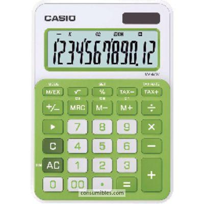 Calculadoras de sobremesa CASIO CALCULADORA SOBREMESA MS-20NC 12 DIGITOS VERDE PILAS MS-20NC VR