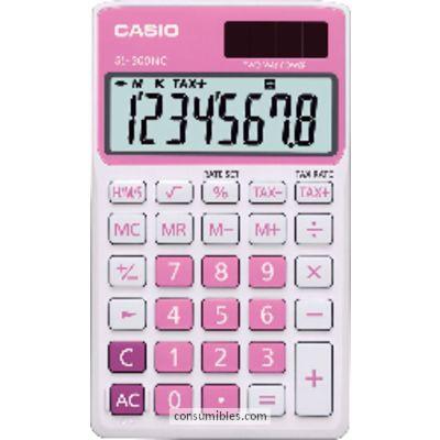 Calculadoras de bolsillo CASIO CALCULADORA DE BOLSILLO SL-300 NC 8 DIGITOS ROSA SL-300NC RS