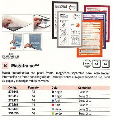 DURABLE MARCO AUTOADHESIVO MAGAFRAME 2UD A4 ROJO 4872-03