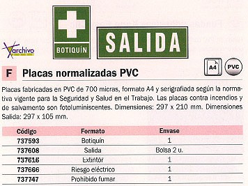 ARCHIVO 2000 PLACA NORMALIZADA PACK 2 UD 297X105 MM VERDE SALIDA 6170-06VE