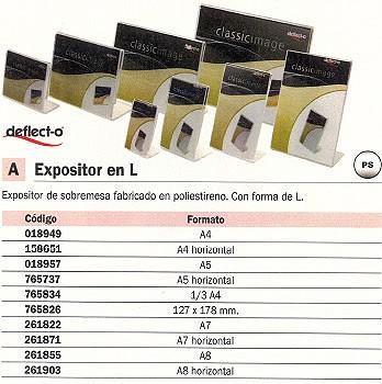 DEFLECTO EXPOSITOR SOBREMESA A4 45201