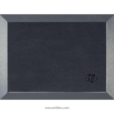 Tableros de corcho BI-OFFICE TABLERO TAPIZADO 45X60 CM ANTRACITA MARCO ANCHO FB04361002