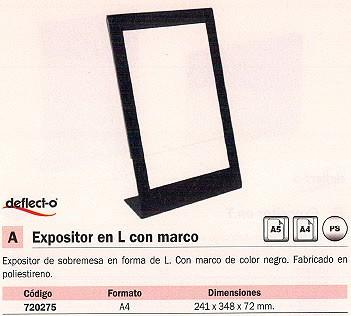 DEFLECTO EXPOSITOR SOBREMESA A4 MARCO COLOR NEGRO 69775EU