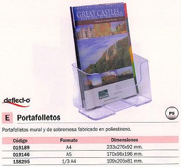 DEFLECTO EXPOSITOR PORTAFOLLETOS RESPALDO ALTO 110X83X197 1/3 A4 77501