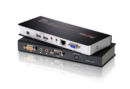 ATEN DESKTOP KVM USB VGA KVM EXTENDER WITH AUDIO, RS-232 AND