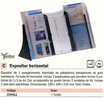 ARCHIVO 2000 EXPOSITOR 135X330X210 INCLUYE 2SEPARADORES 6111CSTP
