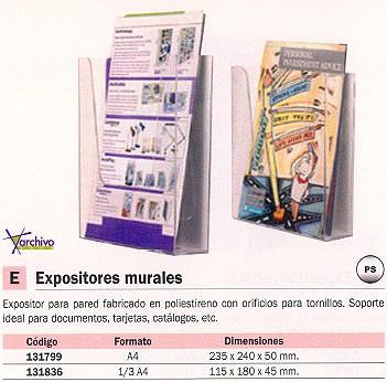 ARCHIVO 2000 EXPOSITOR PARED A4 235X240X50 POLIESTIRENO 9005CSTP