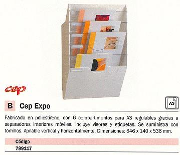 CEP BANDEJA MURAL 6 COMPARTIMIENTOS 346X140X536 MM A4+ 1001530021