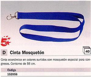 ENVASE DE 40 UNIDADES 5 STAR CINTA CON MOSQUETÓN 86 CM COLORES SURTIDOS 2076CIE