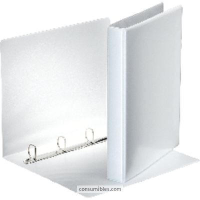 ENVASE DE 10 UNIDADES ESSELTE CARPETA ANILLAS A4 2-40 MM BLANCO PERSONALIZABLE 49724-49739