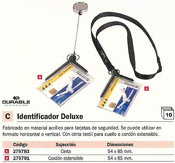 DURABLE CINTA IDENTIFICADOR DELUXE 54X85 MM HORIZONTAL O VERTICAL 8207-58